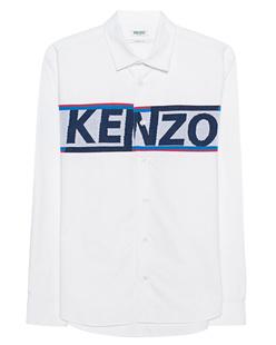 KENZO Label Script White