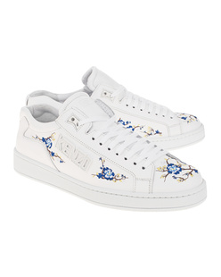 KENZO Tennix Flowers Embroidered White