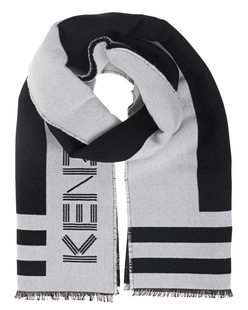 KENZO Wool Label Black White
