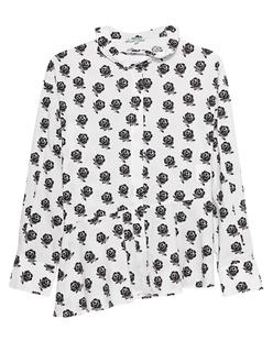 KENZO Shirt Ruffle Collar White