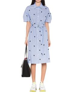 KENZO Shirting Belted Dress Light Blue