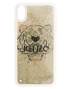 KENZO Case iPhone X+ Tiger Head Gold