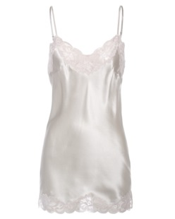 FALCON & BLOOM Romantic Cami Silk Cream Silver