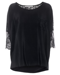 FALCON & BLOOM Breast Pocket Floral Lace Black