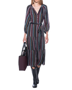 VELVET BY GRAHAM & SPENCER Stripes Midi  Multicolor
