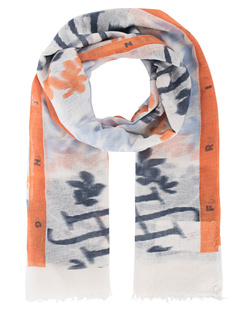 FRIENDLY HUNTING Felted Stole Print Vibrate Orange