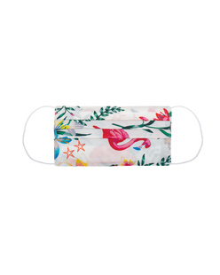 JADICTED Face Mask Silk Flamingo Multicolor