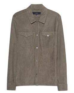 ARMA Suede Shirt Olive