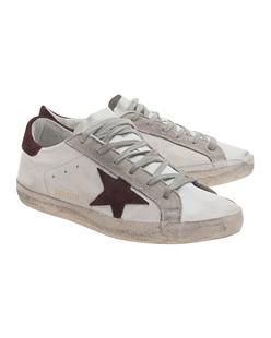 GOLDEN GOOSE Sneakers Superstar White Purple Suede