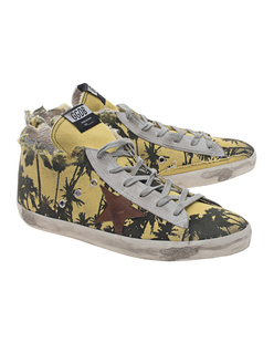 GOLDEN GOOSE Francy Palm Printed Yellow