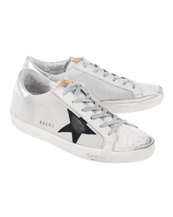 GOLDEN GOOSE DELUXE BRAND Superstar White Cord/Silver Lurex
