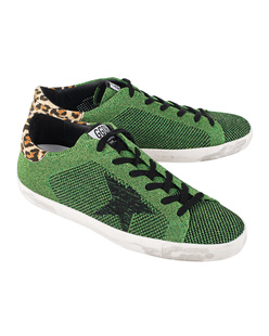 GOLDEN GOOSE DELUXE BRAND Superstar Glamour Green Knitted