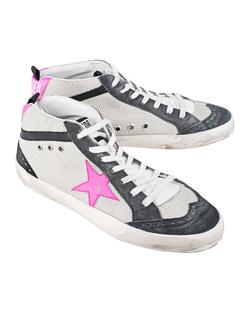 GOLDEN GOOSE DELUXE BRAND Mid Star Ice Net Pink Flou Star