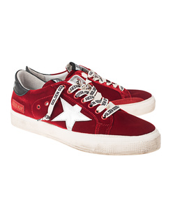 GOLDEN GOOSE DELUXE BRAND May Velvet Star Red