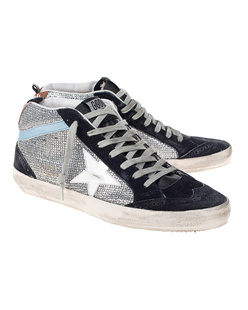 GOLDEN GOOSE DELUXE BRAND Mid Star Silver Blue