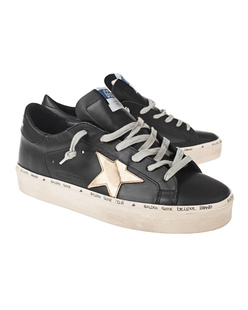 GOLDEN GOOSE DELUXE BRAND Hi Star Gold Black
