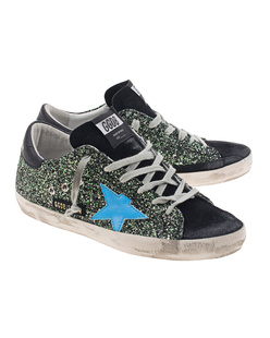 GOLDEN GOOSE DELUXE BRAND Superstar Glitter Green