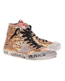 GOLDEN GOOSE DELUXE BRAND Francy Penstar Gold