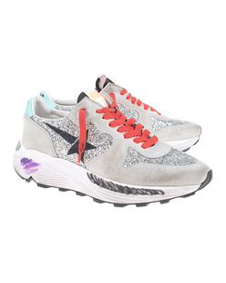 GOLDEN GOOSE DELUXE BRAND Running Sole Silver Grey