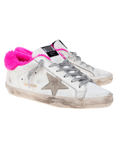 GOLDEN GOOSE DELUXE BRAND Superstar Shearling Fuchsia White
