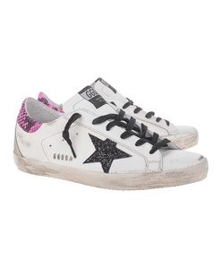 GOLDEN GOOSE DELUXE BRAND Superstar Black Gitter White