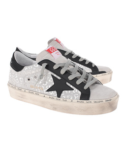 GOLDEN GOOSE DELUXE BRAND Superstar Hi Star Silver
