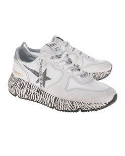 GOLDEN GOOSE DELUXE BRAND Running Sole Zebra White