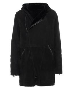 GIORGIO BRATO Lamb Fur Asymmetrical Black