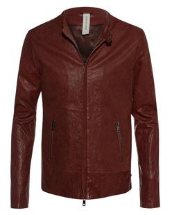 GIORGIO BRATO Leather Zip Red