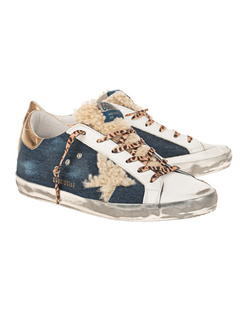 GOLDEN GOOSE DELUXE BRAND Superstar Denim Leo Multicolor