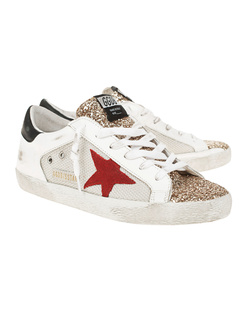 GOLDEN GOOSE DELUXE BRAND Superstar Double Quarter Glitter Multicolor