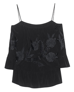 JADICTED Off-Shoulder Flower Black