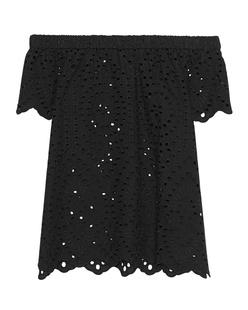 JADICTED Cotton Off Shoulder Black