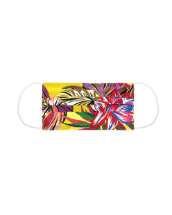 JADICTED Face Mask Silk Hibiskus Multicolor