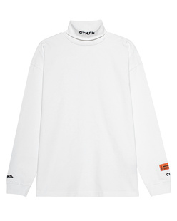 HERON PRESTON Roll Neck CTNMB White