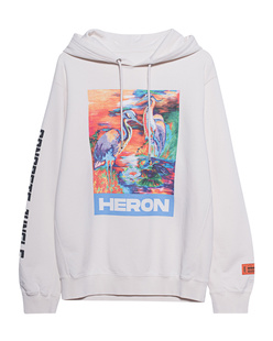 HERON PRESTON Colors Print Hood Off-White