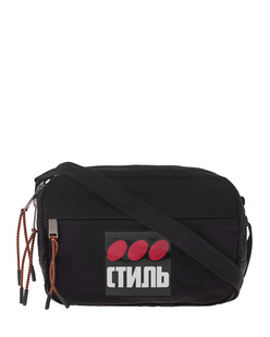 HERON PRESTON Camera Bag Dots Black