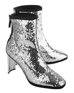 GIUSEPPE ZANOTTI Ruggente Sequin Silver