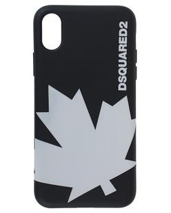 DSQUARED2 iPhone X White Label Black