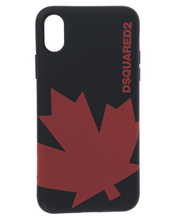 DSQUARED2 iPhone X Red Label Black