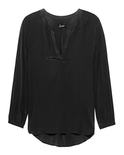 JADICTED V Neck Silk Black