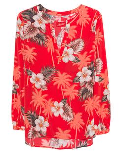 JADICTED Box Pleat Hawaii Red