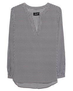 JADICTED Silk Houndstooth Black White