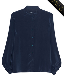 JADICTED Heavy Silk Blouse Purple Blue
