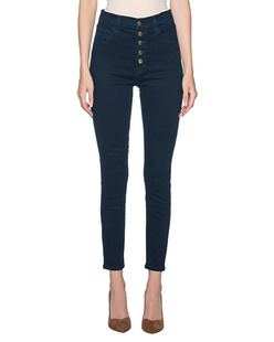 J BRAND Lillie High Rise Crop Skinny Navy