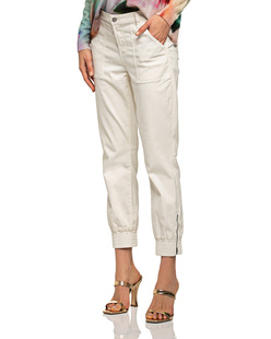 J BRAND Arkin Jogger Pants Zip Ankle Off-White