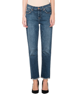7 FOR ALL MANKIND Asher Boyfriend Raw Hem Blue