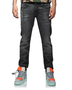 7 FOR ALL MANKIND Slimmy Tapered Washed Black