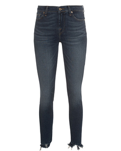 7 FOR ALL MANKIND The Super Skinny Crop Blue