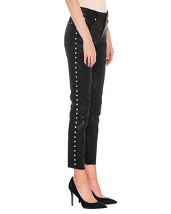 7 FOR ALL MANKIND Skinny Coated Studs Black